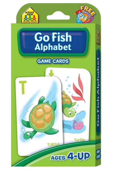 Go fish alphabet game cards therapy in a bin for How do you play go fish card game
