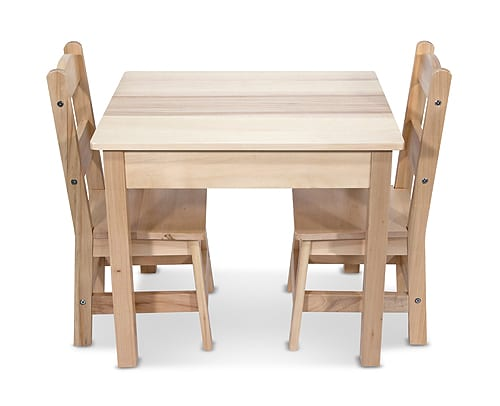 Wooden Table Chairs 3 Piece Set Mindful Toys