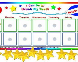 Brushing teeth chart toy store