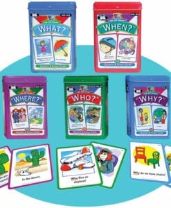 Who What When Cards Learning Toys