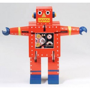 robot learning toy red