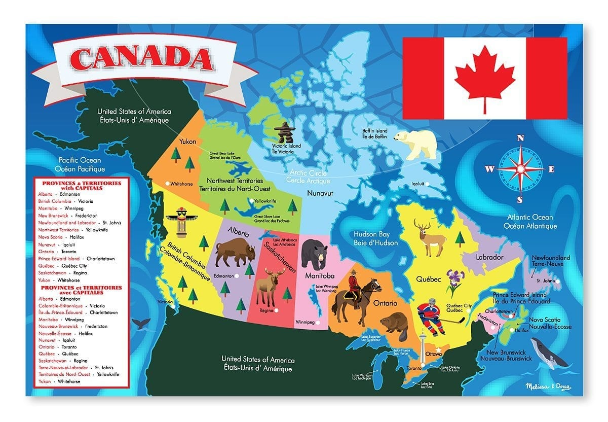 Canada Map Floor Puzzle 48 Piece Therapy In A Bin
